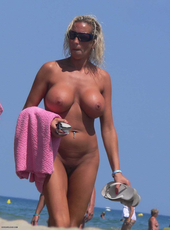 Big tits at nude beach