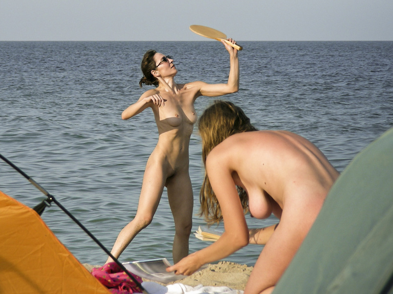 My wife camping naked