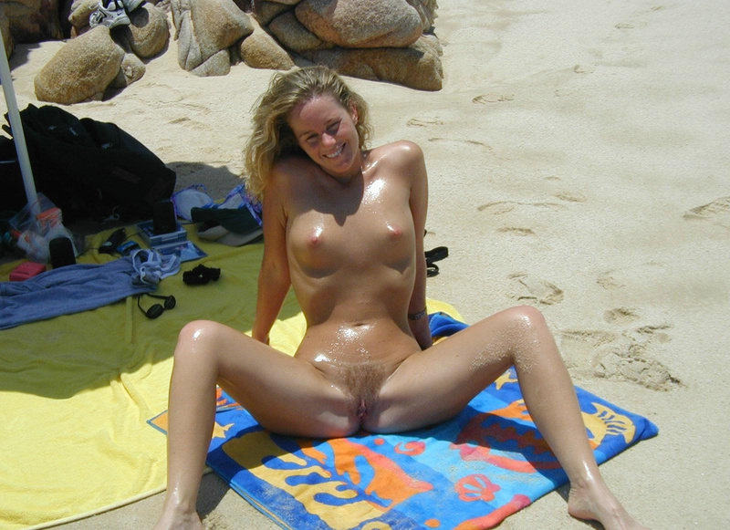 at beach naked Wife