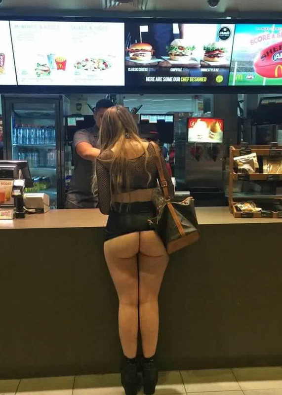 Women caught nude in public