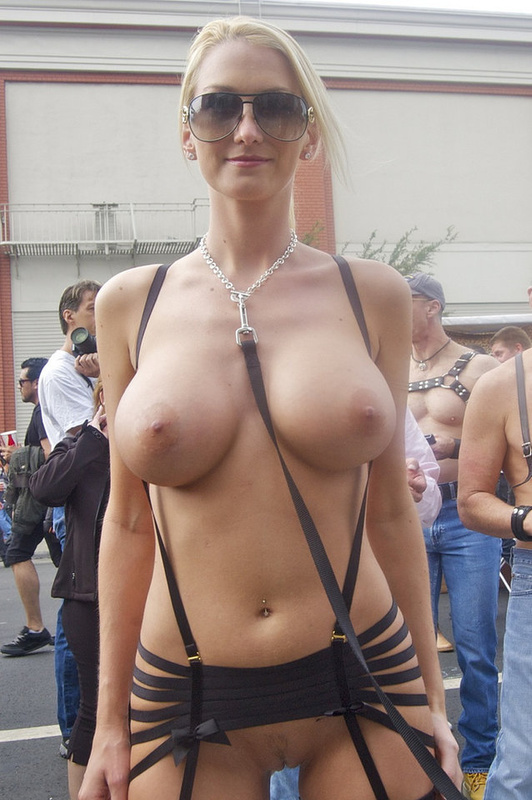 Topless women in public