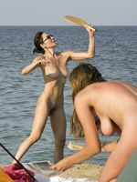 Nude camping at private beach