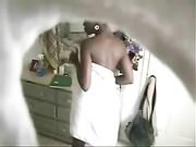 Nude Black Woman Secretly Filmed on Hidden Cam