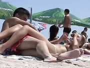 Female Nudist Filmed on the Romanian Beach