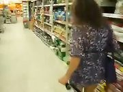 Kinky Wife with no Panties Flashes Pussy and Ass in Public Store