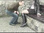 Outdoor Filming Couple Making Sex