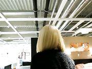 German Girl Doing Public Blow Job in a Store