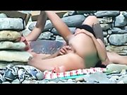Hidden Camera at the Beach Nude Couple Filmed