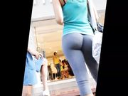 Candid Camera Filming Girl with Great Ass in Tight Yoga Pants