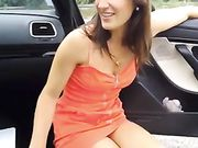 Blowjob and Facial Cumshot Outdoor by the Car