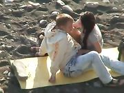 Caught Doing Oral Sex and Fucking on the Beach