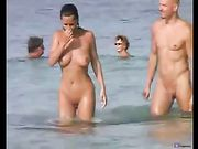 Nudist Couple Oral Sex on the Beach