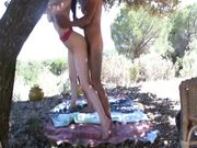 Couple fucking outdoor at the picnic